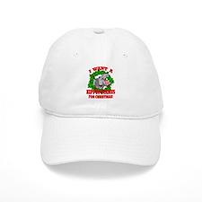 Hippopotamus for Christmas Baseball Baseball Cap
