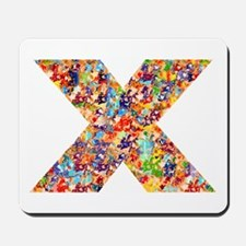 X on White Mousepad