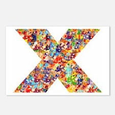 X on White Postcards (Package of 8)