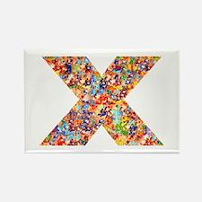 X on White Rectangle Magnet