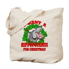 Hippopotamus for Christmas Tote Bag