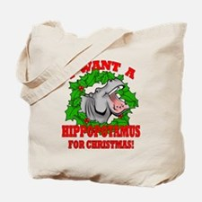 Hippopotamus for Christmas Tote Bag