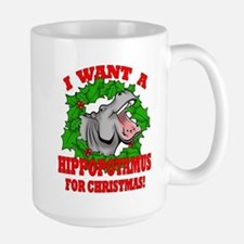Hippopotamus for Christmas Mug