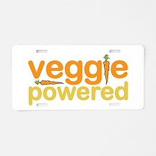 Veggie Powered Aluminum License Plate