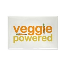 Veggie Powered Rectangle Magnet
