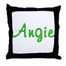 Angie Glitter Gel Throw Pillow