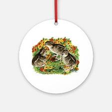 Bobwhite Chick Garden Ornament (Round)