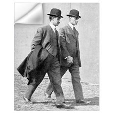 The Wright brothers, US aviation pioneers Wall Decal