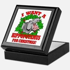 Hippopotamus for Christmas Keepsake Box