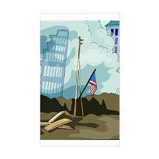 Twin Tower Rectangle Decal