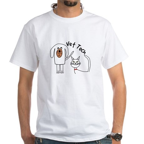 Vet Tech dog and cat.PNG White T-Shirt