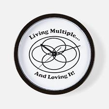 Living Multiple Loving It! Wall Clock