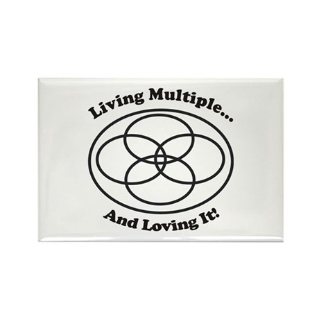 Living Multiple Loving It! Rectangle Magnet (100 p