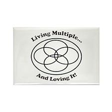 Living Multiple Loving It! Rectangle Magnet