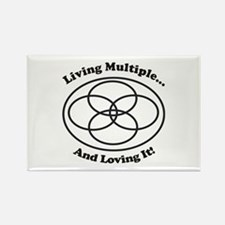 Living Multiple Loving It! Rectangle Magnet