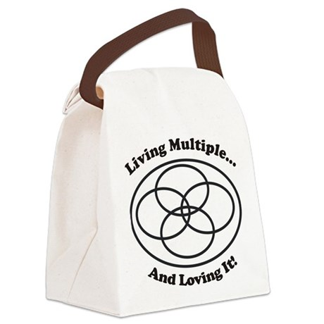 Living Multiple Loving It! Canvas Lunch Bag