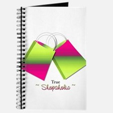 Trus Shopaholic with shopping bags Journal