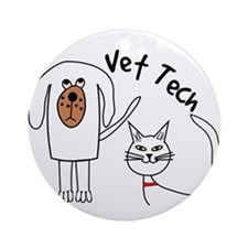 Vet Tech dog and cat.PNG Ornament (Round)
