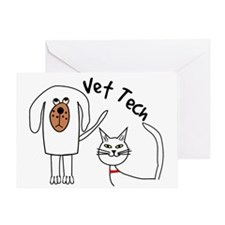 Vet Tech dog and cat.PNG Greeting Card