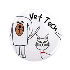 "Vet Tech dog and cat.PNG 3.5"" Button"