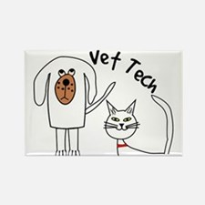 Vet Tech dog and cat.PNG Rectangle Magnet