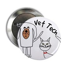 """Vet Tech dog and cat.PNG 2.25"""" Button"""