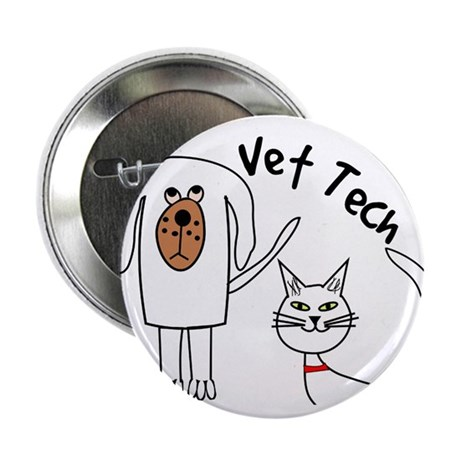 "Vet Tech dog and cat.PNG 2.25"" Button"