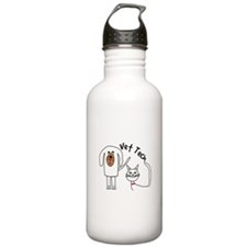 Vet Tech dog and cat.PNG Sports Water Bottle
