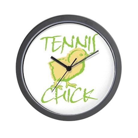 Green Tennis Chick Wall Clock
