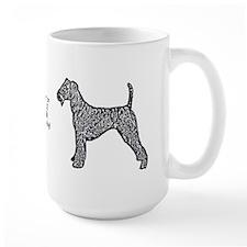 Airdale Terrier Pop Art Blue Mug