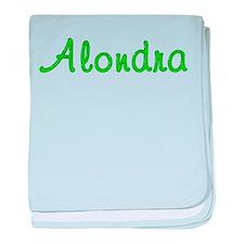 Alondra Glitter Gel baby blanket