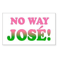 No Way Jose! Rectangle Decal