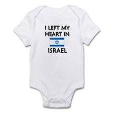 I Left My Heart In Israel Infant Bodysuit