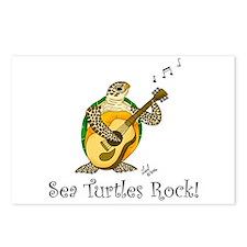 Sea Turtles Rock Postcards (Package of 8)