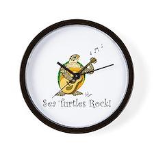 Sea Turtles Rock Wall Clock