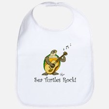 Sea Turtles Rock Bib
