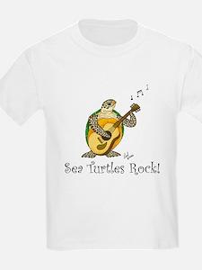Sea Turtles Rock Kids T-Shirt