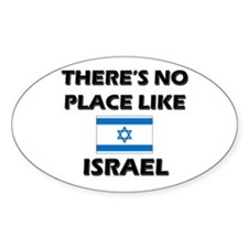There Is No Place Like Israel Oval Decal