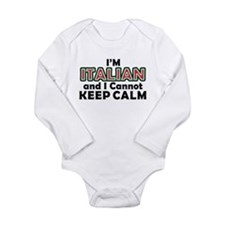 Italians Cant Keep Calm Long Sleeve Infant Bodysui
