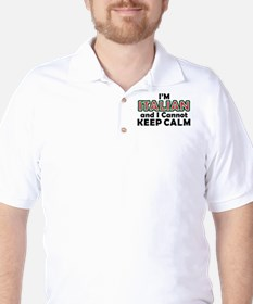 Italians Cant Keep Calm Golf Shirt