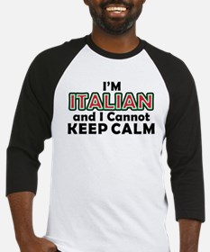 Italians Cant Keep Calm Baseball Jersey