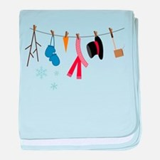 Snowman Clothing baby blanket