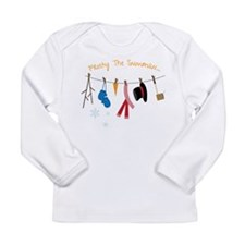 Frosty The Snowman Long Sleeve Infant T-Shirt