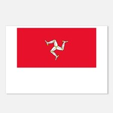 The Isle Of Man Flag Picture Postcards (Package of