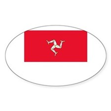 The Isle Of Man Flag Picture Oval Stickers