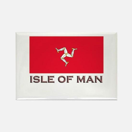 The Isle Of Man Flag Stuff Rectangle Magnet