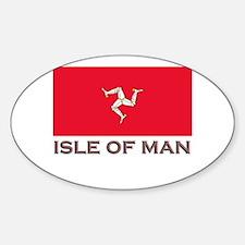 The Isle Of Man Flag Stuff Oval Decal
