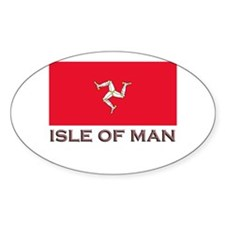 The Isle Of Man Flag Stuff Oval Stickers