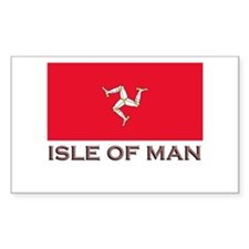 The Isle Of Man Flag Stuff Rectangle Stickers