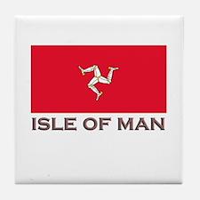 The Isle Of Man Flag Stuff Tile Coaster